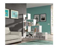 CRAVOG Etagère / Bibliothèque escalier blanc brillant 145x145cm