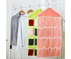 Sac de Rangement Mural 16 poches pour Chaussures Chaussettes Bijoux Sous-vêtements