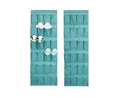 Jintn 24 poches à chaussures sur porte à fixation murale à suspendre Sacs de rangement Armoire de rangement Maison Chambre à coucher Space Saver Caddy Organiseur Rack Shelf Supports Ménage Armoire accessoire