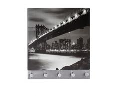 Wenko 50402100 Penderie Murale Magnétique Motif Imprimé Manhattan Bridge Dimensions 30x34 cm