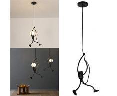 Moderne Lustre Suspendu charmant fer Créatif personnes Lampe suspension élégante Lampe de plafaond Parfait pour Cuisine Chambre denfant Salon