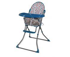 Chaise haute pliante Baby Fox Quick Elephant - Bleu