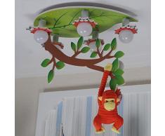 Mode Eclairage de plafond-WXP LXSEHN Creative Boys Girls Lustre Pour Chambre D'enfant Luminaires À LED Luminaires Chambre À Coucher Chambre À Coucher Lustres Luminaires intérieur-WXP ( Couleur : Remote control/Segmented )