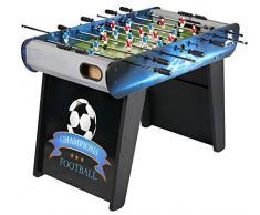 029cce799b06b7 Leomark Table de Babyfoot Champions Table En Bois Jeu de Football, Table De  Baby-