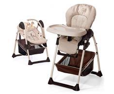 Hauck/Sit N Relax/Chaise Haute Bébé 3 en 1/ Transat Bébé et Chaise pour Enfants/avec Position Couchée/avec Arc Jeu, Plateau Repas, Roues/Réglable en Hauteur/Évolutive/ Pliable/ Zoo (eige)