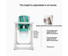 Axiba Babycare Portable pliante bébé siège chaise chaise haute réglable cinq points ceintures enfants repas Table d'alimentation Chaise