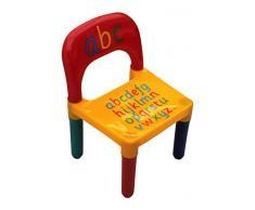 HOME HUT Table et chaises ABC Lettres de l'alphabet en Plastique pour Enfants – Enfants Tout-Petits Enfant – Cadeau