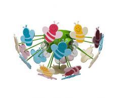 Plafonnier ludique pour enfant avec plafonnier en acryl multicolore, pour chambre d'enfant Ø47cm 5 ampoules non-incl. E14 5x40W 230V