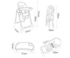 Xiao Jian- Chaise Haute pour bébé - Chaise Pliante multifonctionnelle pour Chaise Haute et Table de Jeu pour chaises Chaise de bébé