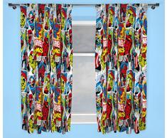 Character World Rideaux Multicolore Motif Justice/Disney Marvel Comics 137 cm