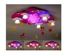 Bon lustre Lampe Chambre D'enfant Fille Créative Princesse Teddy Bear Lampe LED Plafond Dessin Animé Chambre Enfant Chambre