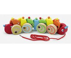 Viga Toys - 59950 - Jouet À Tirer - Chenille En Bois Coloré