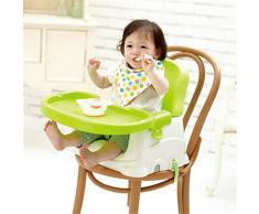 AMYMGLL Enfants CHAISE chaise bébé à manger Table pliante dîner Tables à manger de chaises pour enfants siège de la chaise PP sécurité protection de l'environnement portable en plastique approprié pour plus de 3 mois de