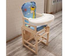 GJJSZ Chaise de Salle à Manger pour Enfants Chaise de Salle à Manger multifonctionnelle Portable en Bois Massif pour bébé (Peut être combinée,Peut être séparée) 0-4 Ans,comme indiqué,1