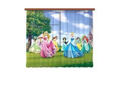 AG design fCC/xl 6322 rideau voilage pour chambre d'enfant motif princesse disney