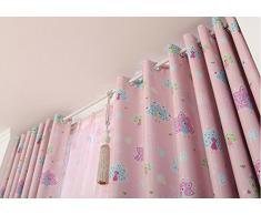 Salon rideaux rideaux de la chambre Crochets Rideaux Filles roses Rideaux de chambre Princesse Rideaux de chambre d'enfants Rideaux de rideaux Rideaux de rideaux rideaux de coton rideaux Continental ( couleur : Rose , taille : 2.0*2.0m )