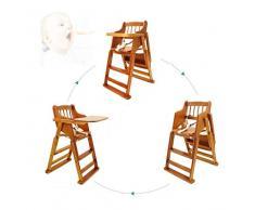 Sièges d'appoint de luxe Healthy Care, chaise de bébé pour enfants - Chaise de table de salle à manger multifonctions pliante portable en bois massif, pour enfants de 6 mois à 6 ans,B