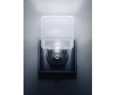 Integral Veilleuse LED Avec Détecteur Automatique Jour/Nuit, format Prise Electrique Blanc Mat
