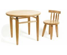 Jouetprive-Table ronde en bois natuel pour enfant Clifton