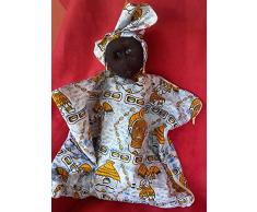Sac range pyjama en forme de maman africaine avec un bébé dans le dos
