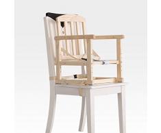 Chaise Haute bébé Chaise Haute Évolutive Portable Multifonctions en Bois Massif pouvant être attaché à la Chaise ZHANGQIANG (Couleur : Wood COIOR, Taille : Hollow)