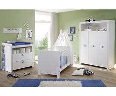 Ensemble chambre bébé coloris blanc
