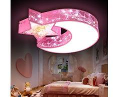 wawzw Plafonnier Lustre moderne pour couloir, chambre à coucher, cuisine, chambre d'enfant, salon plafonnier LED Cartoon Enfants Garçons et Filles 56 * 9 cm Rose