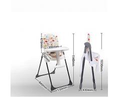 WYQBBY Chaise Haute, Chaise de Salle à Manger Portable Pliante pour Enfants Chaise à dîner Multifonction pour bébé, Table à Manger et Chaise réglable en Hauteur du Dossier, Plaque réglable, Ajustable