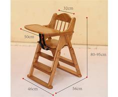HHCS Bébé chaise à manger chaise en bois massif pliant bébé hauteur réglable à manger chaise Multi-fonctionnelle repas Dinette Chaises et tabourets