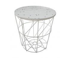Atmosphera - Table Rangement en Métal et Bois pour Chambre denfant Kumi Gris