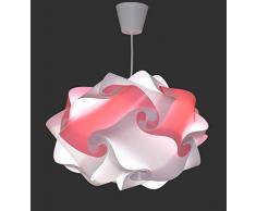 Creativ Lamp Lustre Chambre Enfant Rose Pale Entièrement Montée - Ampoule Led Cordon Pavillon Inclus - Ø 40 cm - Colorette Rose Pastel