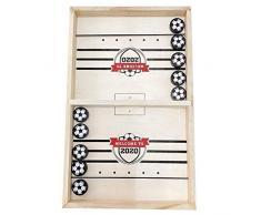 FBGood Partie de Hockey Slingshot - Football Pare-Chocs Table de Jeu Interactif Parent-Enfant Jeu de Batailles de Bureau, Gagnant Jeux de Société Jouets de Table pour la Famille (Bois)