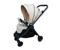 Poussette de voyage pour bébé, landau léger, siège réversible, face au buggy, norme européenne (beige)