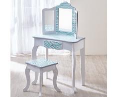 Coiffeuse enfant Teamson bois table maquillage miroir tabouret fille TD-11670C