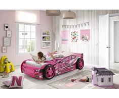 Vipack SCGR200 Girls Racer Lit Voiture MDF 216 x 111 x 58 cm