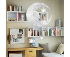 Zhanying G4 Chambre d'enfant Chambre à Coucher Salle à Manger Lustre Étoile/Lune créative Combinaison de lumière Chaude et rêveuse (Couleur : AC 220V, Taille : Blanc Froid)