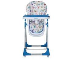 Chaise haute pliante Baby Fox Monkeys Bleu