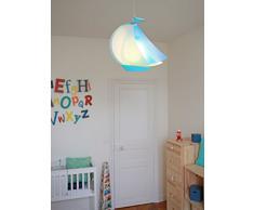 R&M Coudert Lampe de Plafond Suspension Chambre Enfant Bateau Bleu