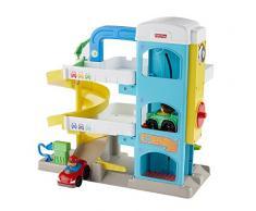 Fisher-Price Little People le garage de laimable voisin avec 2 voitures incluses, jouet pour enfant de 1 an et demi à 5 ans, FHG50