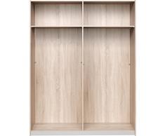 CS Schmalmöbel 75.051.051/41 Armoire à portes coulissantes Bois Chêne 42 x 150 x 193 cm