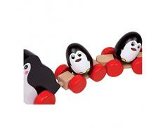 Small Foot Company - 2492 - Jouet À Tirer - Famille De Pingouins