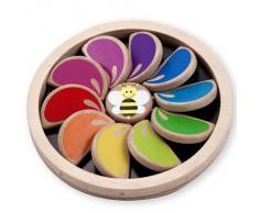 Jouet d'éveil en bois 10 pétales de fleurs qui changent de couleurs Bébé 9 mois+
