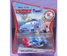 Disney Pixar CARS 2 Exclusive 1:55 Die Cast Car SILVER RACER Raoul Caroule With Metallic Finish - Véhicule Miniature - Voiture