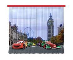 AG design FCS XL 4312 Rideau voilage pour chambre d'enfant motif Cars Disney