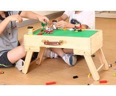 Fy-Light Pliable pour Enfant Table de Jeu, Compatible de Stockage pour Table de Jeu Pliable fabriqué sur Mesure en Bois pour Enfants Slft Standard en Bois Tableau Noir