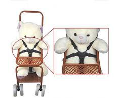 Sangles de chaise haute, chaise haute universel pour ceinture de sécurité/Sangles/Harnais/de remplacement pour chaise haute En Bois Poussette de bébé (Ceinture de sécurité 5 points)