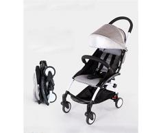 Chariot bébé, poussette paysage élevé Cadre en alliage d'aluminium Bébé peut s'asseoir Chapeaux inclinables Chariot pliant léger ( Couleur : #2 )