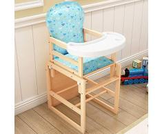 Chaise Enfant En Bois Massif Siège Enfant En Bois Massif Multifonction Chaise Bébé Chaise Bébé 48 Cm * 42 Cm * 95 Cm