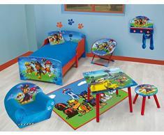 FUN HOUSE 712593 Pat Patrouille Table Carrée pour Enfant Bois MDF Bleu 50 x 50 x 44 cm