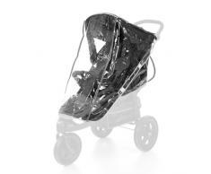 Hauck Habillage Pluie Universel pour Poussette Shopper Buggy 3 et 4 Roues Imperméable Durable avec Ventilation – Transparent